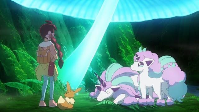 Pokémon viajes maestros capitulo 7: ¡El cuento de ti y el bosque lumirinto!