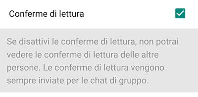Come disattivare le Conferme di Lettura su WhatsApp