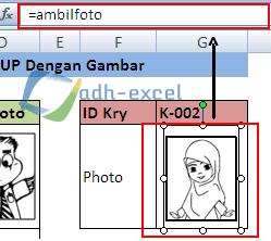 vlookup gambar dalam excel