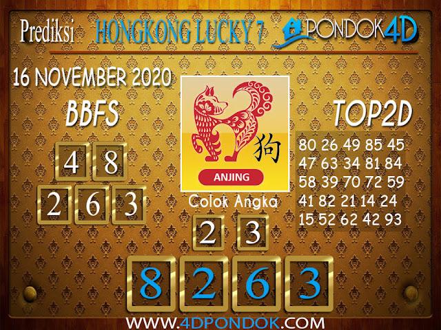 Prediksi Togel HONGKONG LUCKY 7 PONDOK4D 16 NOVEMBER 2020