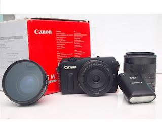 Mirrorless Canon EOS M Double Kit Fullset