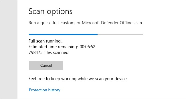 scanning windows defender