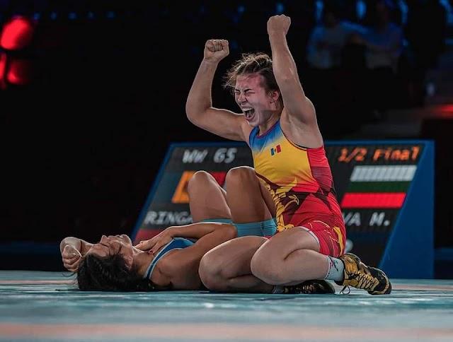Zi extraordinară pentru luptătoarea Irina Rîngaci