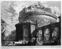 Piranesi's etching of the Castel Sant'Angelo in Rome