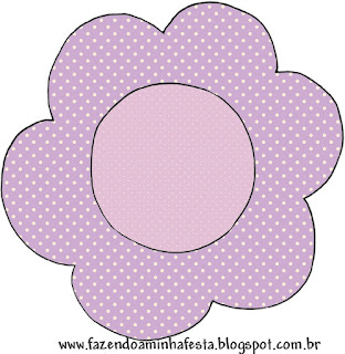 Lilac with Polka Dots: Free Printable Wrappers and Toppers.