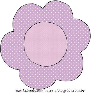 Lila con Lunares Blancos y Lazo Rojo: Wrappers y Toppers para Candy Bar de Primera Comunión para Imprimir Gratis.