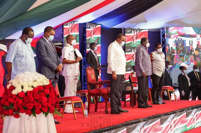President Uhuru Kenyatta at KICC launching signature collection
