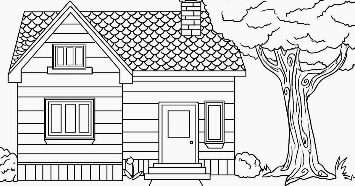 colours drawing wallpaper: Beautiful kids House Coloring ...