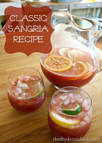 Classic fruity sangria recipe