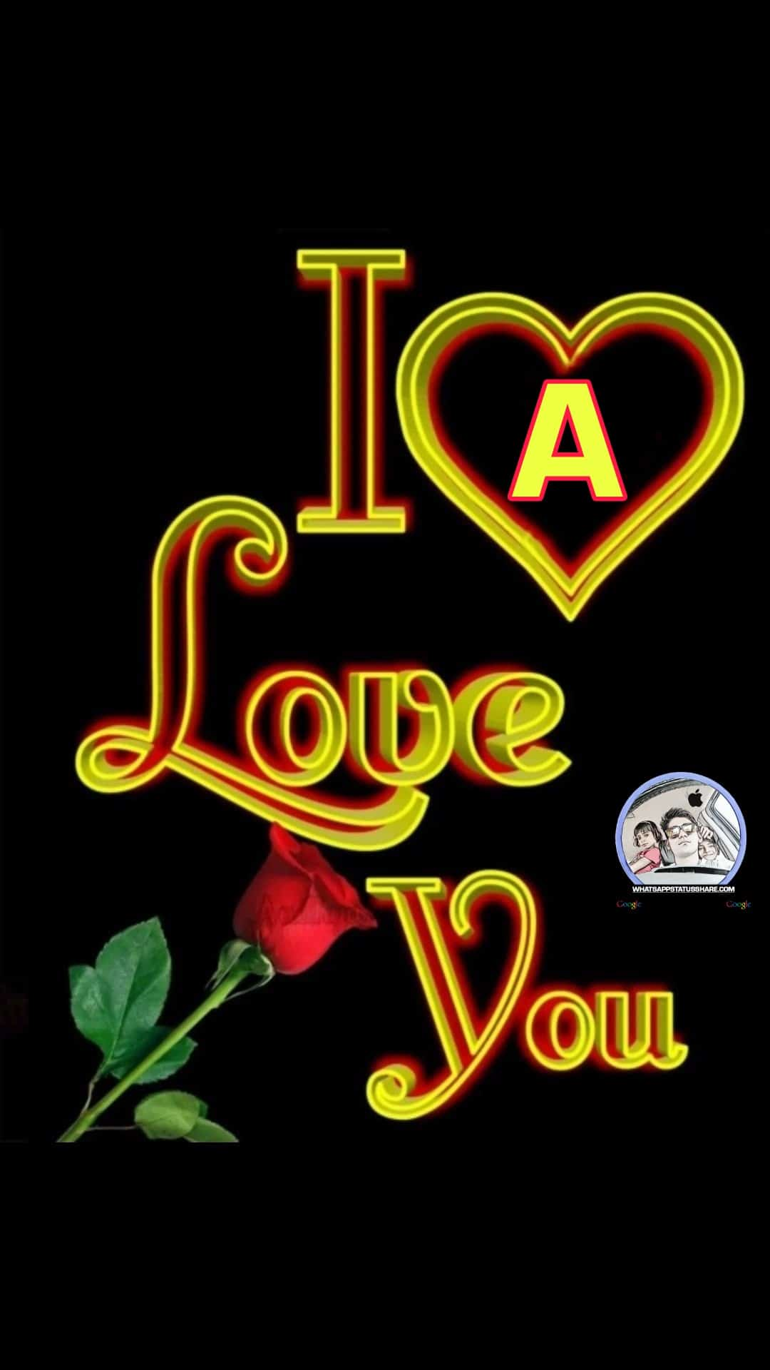 i love you a nameart