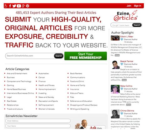Directorios de artículos para atrer trafico a tu web y tus enlaces de afiliado