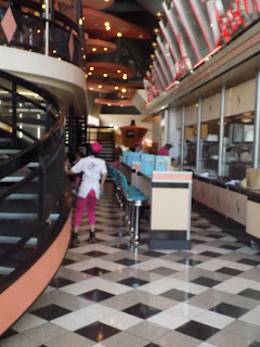 waitress at Annette's diner. disneyland paris