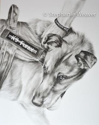Dry Brush Oil Painting of Furax by Stephanie Weaver