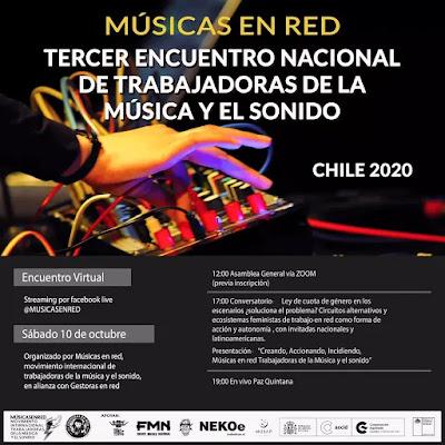 Músicas en Red anuncia el 3er. Encuentro Trabajadoras de la Música