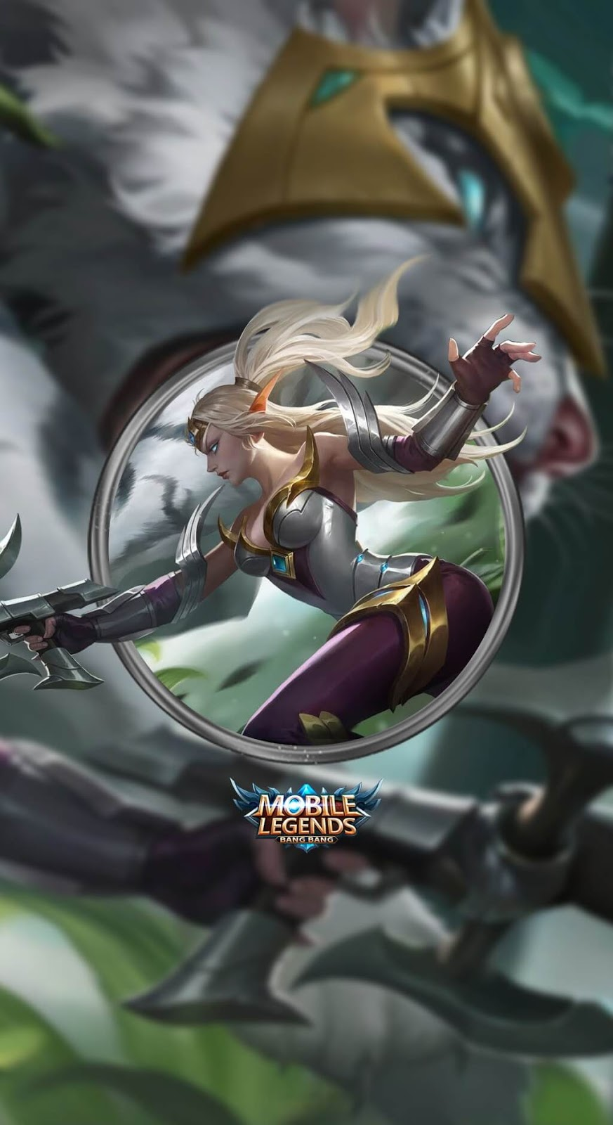Wallpaper Irithel Silver Cyclone V1 Skin Mobile Legends HD for Mobile