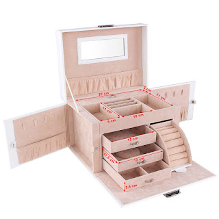 DEALS TODAY Songmics Jewellery Box Storage, £25.45