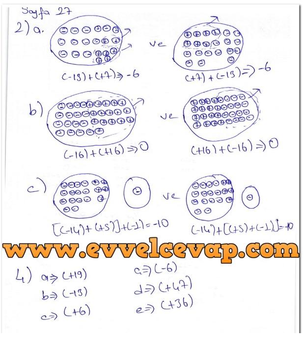 7. Sınıf Matematik Ders Kitabı Cevapları Koza Yayınları Sayfa 27-2