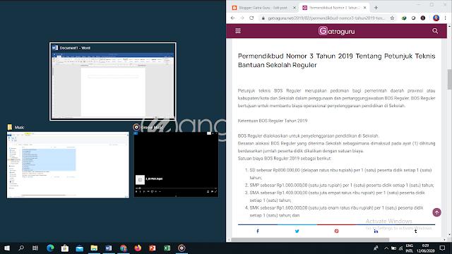 Langkah Membagi Layar Laptop (PC) Menjadi Dua