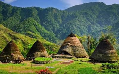 Gambar Pemandangan Alam di Desa Indonesia Keindahan Gunung Alami