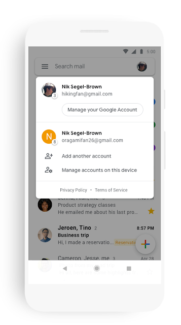 A new look and feel for Gmail on mobile