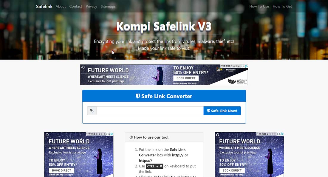Update Premium Blogger Template Kompi Safelink V3