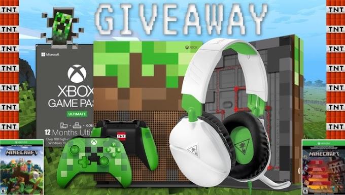 SORTEIO - Vídeo Game XBOX One S Edição limitada Minecraft - PARTICIPE!