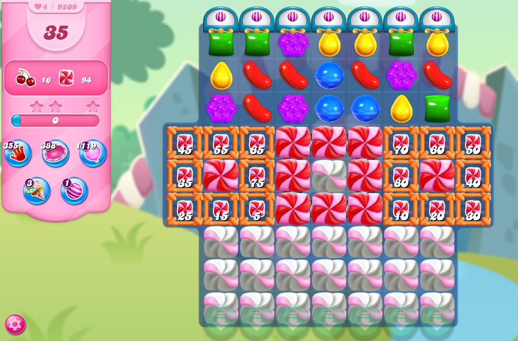 Candy Crush Saga level 9209