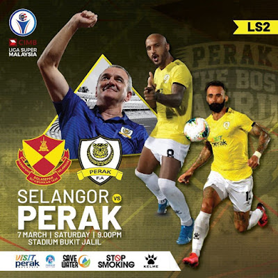 Live Streaming Selangor vs Perak Liga Super 7.3.2020