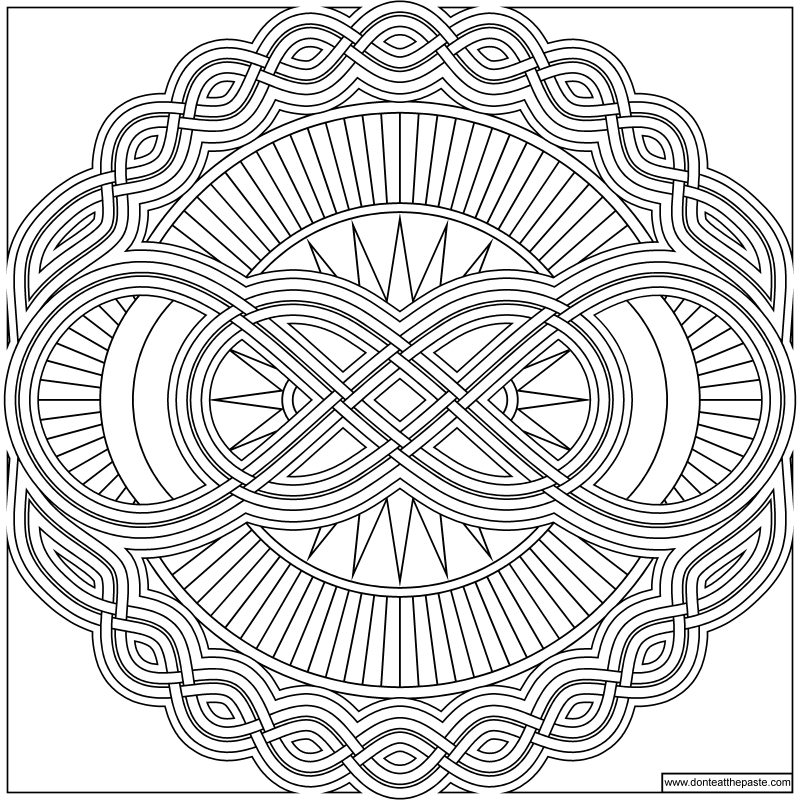 Don 39 t eat the paste infinity mandala to color for Infinity coloring pages