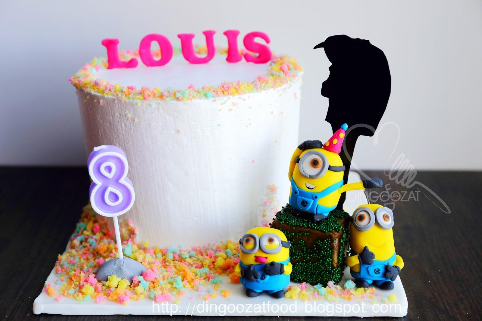 Minions Despicable Me Theme Rainbow Birthday Cake