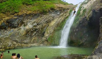 Bath Hot spring side Lake Segara Anak of Mount Rinjani