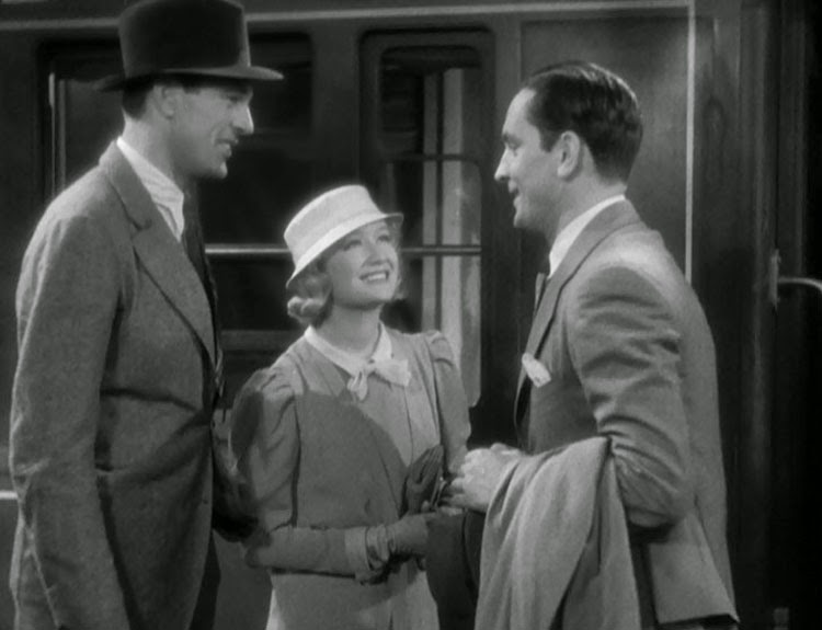 Miriam Hopkins, Fredric Marsh, and Gary Cooper in Design for Living