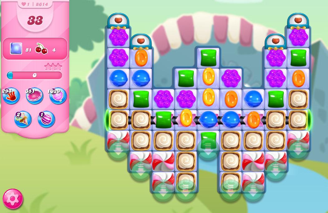 Candy Crush Saga level 8614
