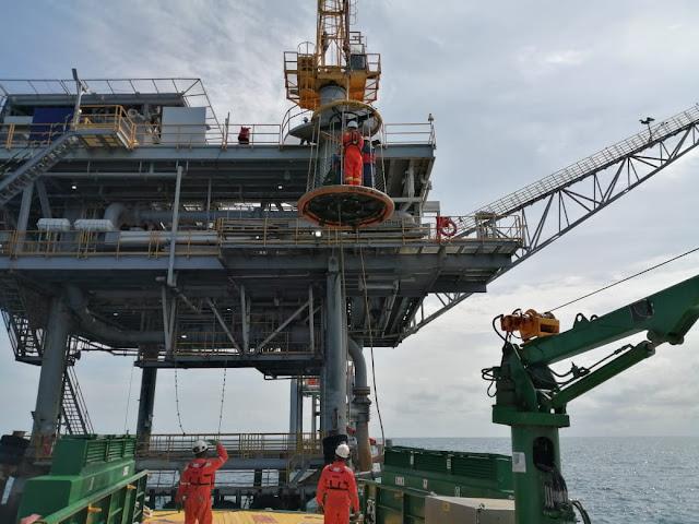 Capitanía de Puerto de Riohacha inspeccionó plataformas de Chevron - Ecopetrol