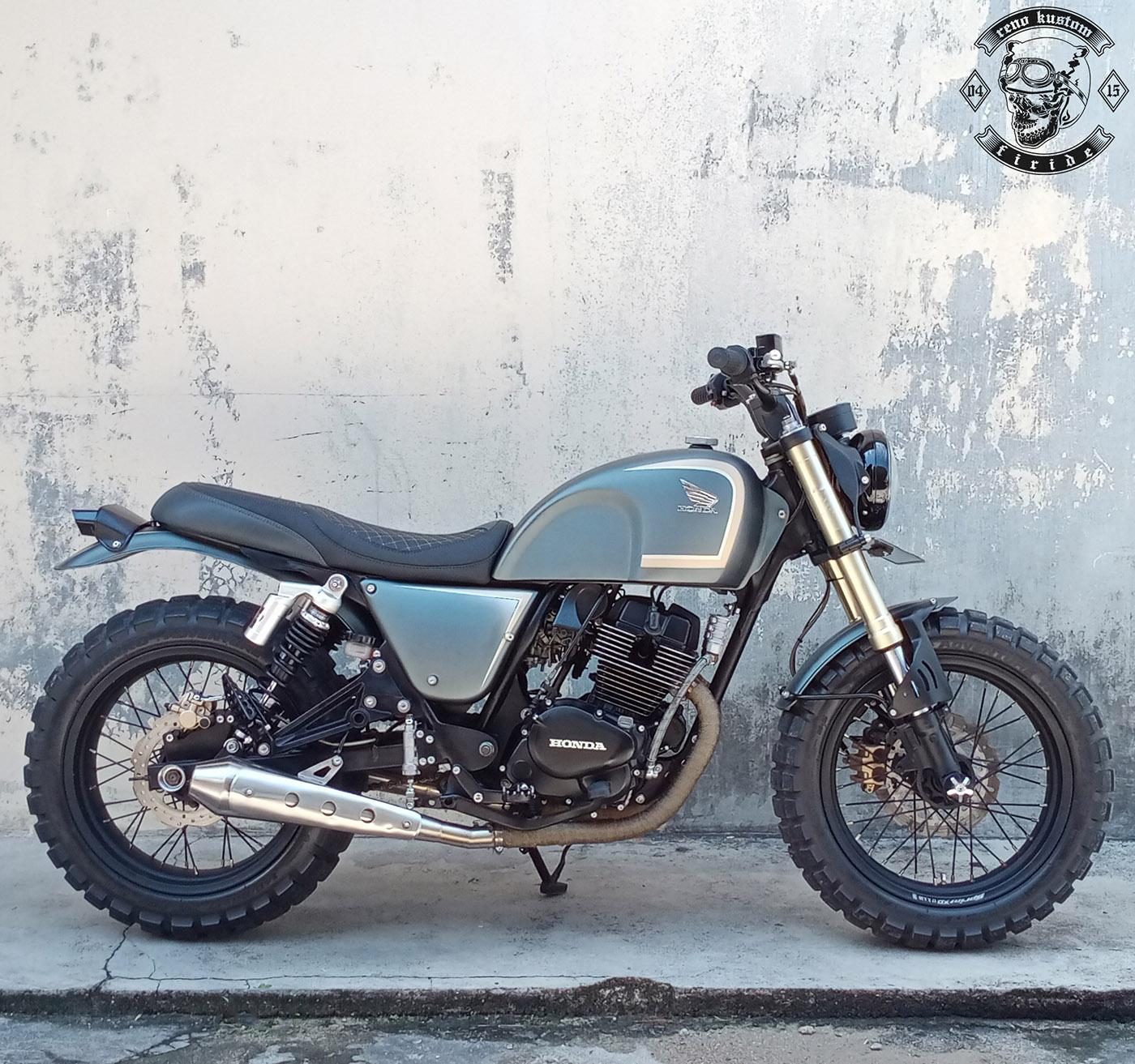 Modifikasi Motor Custom Scrambler Honda CB250