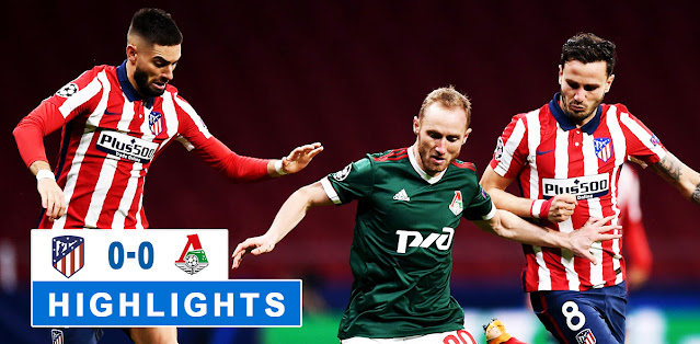 Atlético Madrid vs Lokomotiv Moskva – Highlights