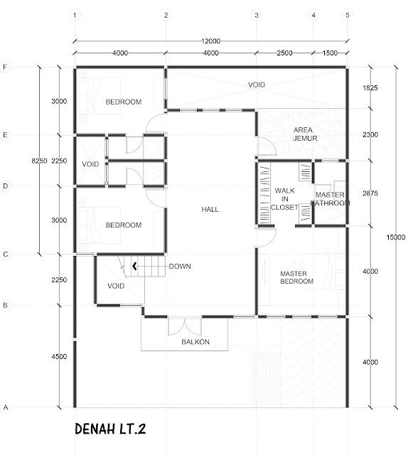 Denah lt.2 - renovasi rumah tangerang