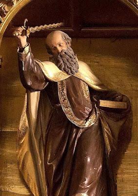 Santo Elias, fundador do Carmo, mosteiro de La Encarnación, Ávila, Espanha