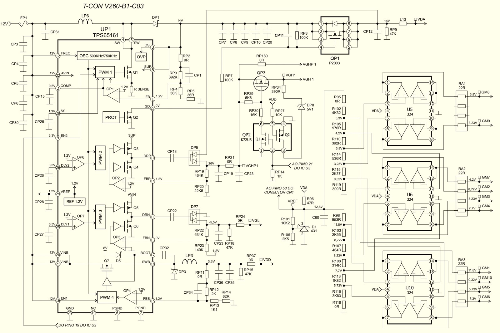 medium resolution of lg 26lc55 lcd tv t con board v260 b1 c03 circuit diagram led tv schematic tcon board schematic or