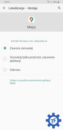Dostęp do lokalizacji w aplikacjach