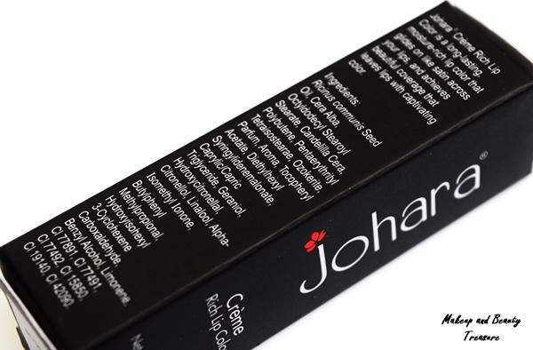 johara lipstick saucy red