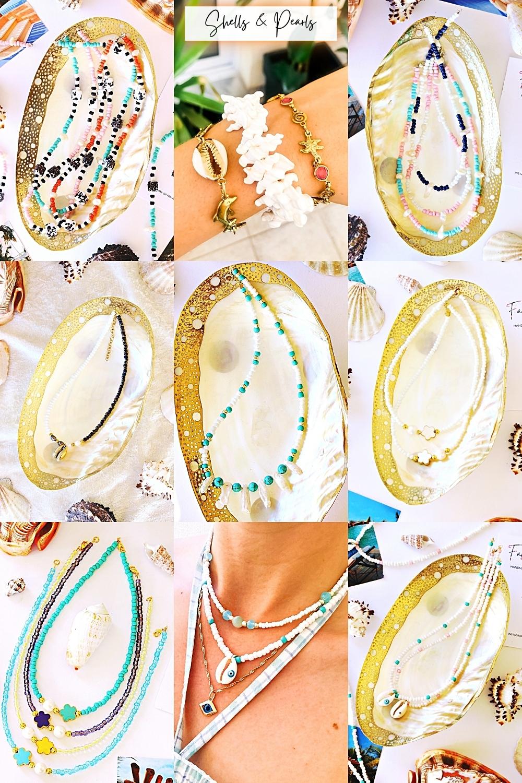 Fab & happy handmade jewelry with shells pearls and mother of pearl, Etsy jewelry, jewelry trends 2021/22, nakit od perli i skoljki