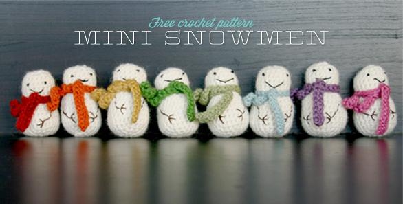 10 Free Snowman Crochet Patterns
