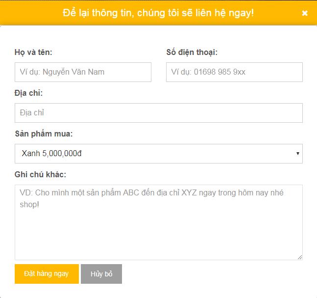 Giao diện Landing page blogspot bán hàng đẹp