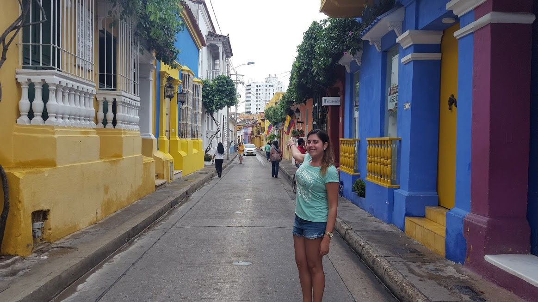 Rua em San Diego, bairro localizado na cidade amuralhada - Cartagena