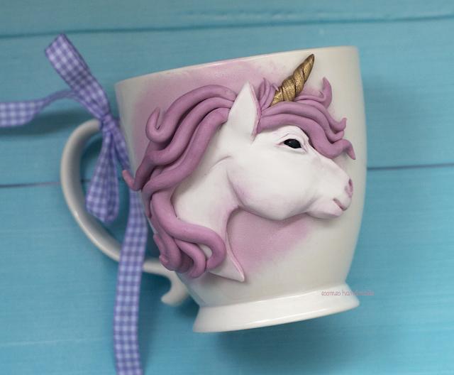 unicorn polymer clay, kubki 3d, mug 3d