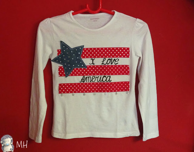 Camiseta customizada USA