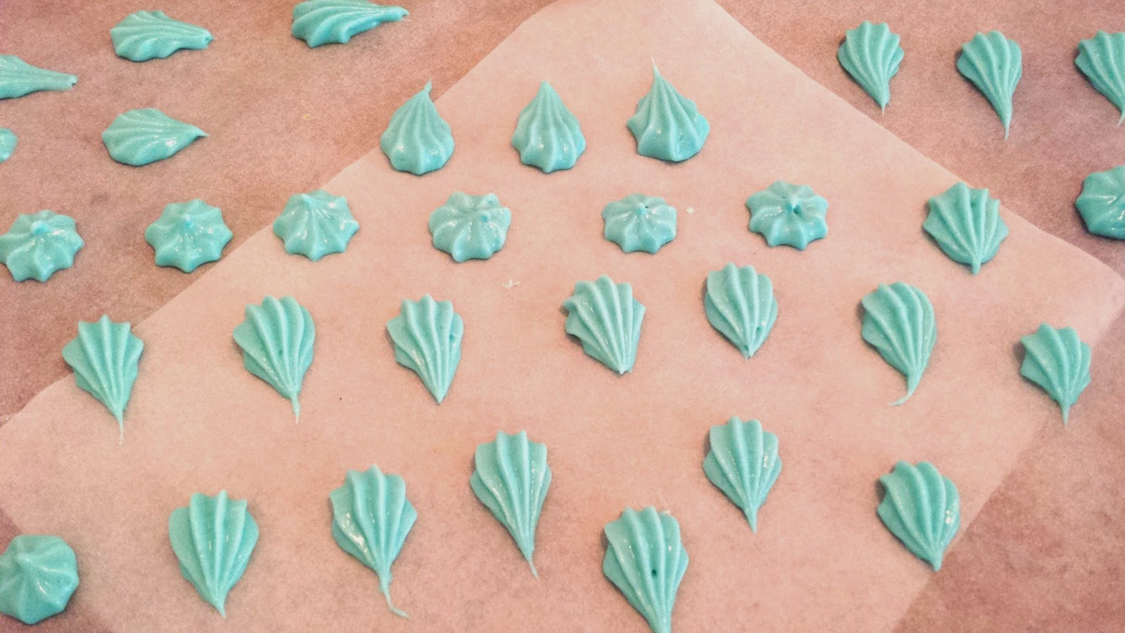 Cream cheese mints, beach shell mints