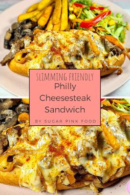 Fakeaway recipe slimming world philly cheesesteak sandwich