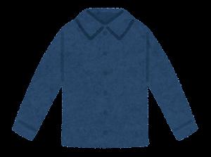 シャツのイラスト(紺色)